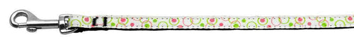 Retro Nylon Ribbon Collar White 3/8 Wide Lsh-Dog Collars-Bella's PetStor