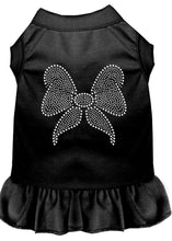 Load image into Gallery viewer, Rhinestone Bow Dress Black-Dog Clothing-Bella's PetStor
