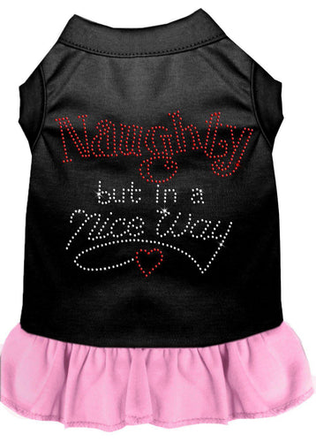 Rhinestone Naughty But In A Nice Way Dress-Dog Dresses-Bella's PetStor