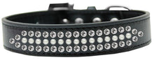 Load image into Gallery viewer, Ritz Pearl And Clear Crystal Dog Collar Size-General-Bella's PetStor