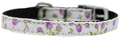 Roses Nylon Dog Collar With Classic Buckle 3/8