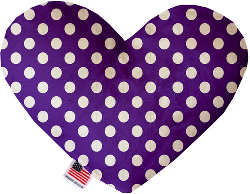 Royal Purple Swiss Dots Inch Canvas Heart Dog Toy-Made in the USA-Bella's PetStor