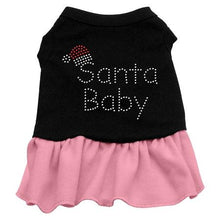 Load image into Gallery viewer, Santa Baby Rhinestone Dress Black With-Christmas, Hannakuh-Bella's PetStor