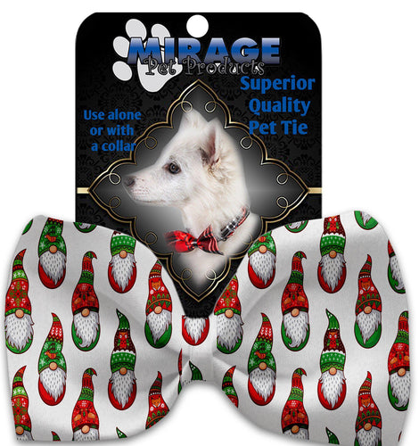 Santa Gnomes Pet Bow Tie Collar Accessory With Velcro-Christmas, Hannukah-Bella's PetStor