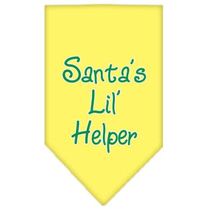 Santa Lil Helper Screen Print Bandana-Christmas, Hannukah-Bella's PetStor