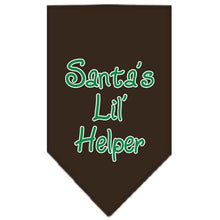 Load image into Gallery viewer, Santa Lil Helper Screen Print Bandana-Christmas, Hannukah-Bella's PetStor