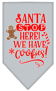Santa, We Have Cookies Screen Print Bandana-Christmas, Hannakuh-Bella's PetStor