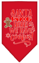 Load image into Gallery viewer, Santa, We Have Cookies Screen Print Bandana-Christmas, Hannakuh-Bella's PetStor