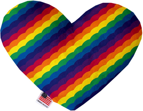 Scalloped Rainbow Inch Heart Dog Toy-More-Bella's PetStor