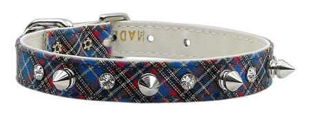School Days Crystal And Spike Collars Plaid-DOGS-Bella's PetStor