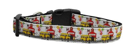 School Days Nylon Dog Collar Medium Narrow-Dog Collars-Bella's PetStor