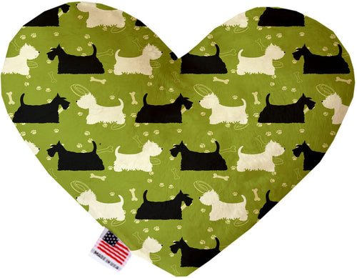 Scottie And Westie Inch Canvas Heart Dog Toy-Made in the USA-Bella's PetStor