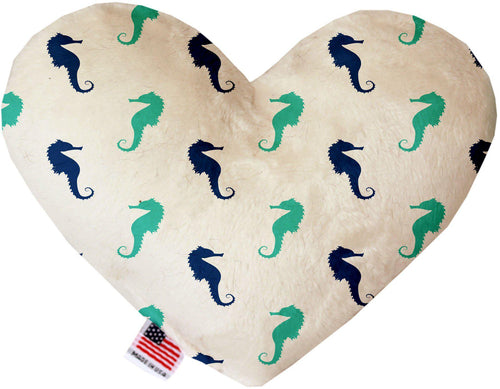 Seahorses Inch Canvas Heart Dog Toy-Made in the USA-Bella's PetStor