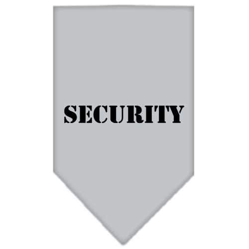 Security Screen Print Bandana Grey Large-security screen print bandana-Bella's PetStor