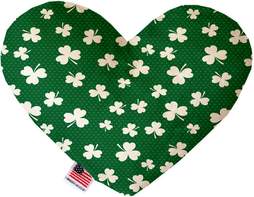 Shamrock Inch Canvas Heart Dog Toy-Made in the USA-Bella's PetStor