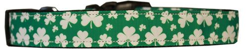 Shamrocks Nylon Dog Collar-Dog Collars-Bella's PetStor