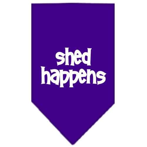 Shed Happens Screen Print Bandana Purple Small-shed happens screen print bandana-Bella's PetStor