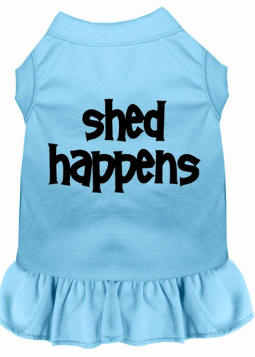 Shed Happens Screen Print Dress Baby Blue-Dog Clothing-Bella's PetStor