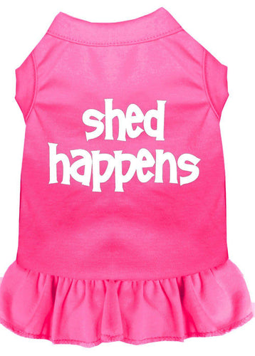 Shed Happens Screen Print Dress Bright Pink-Dog Clothing-Bella's PetStor