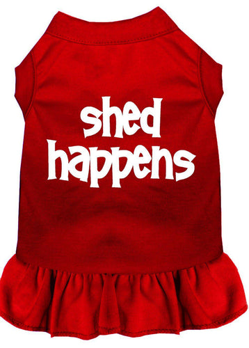 Shed Happens Screen Print Dress Red-Dog Clothing-Bella's PetStor
