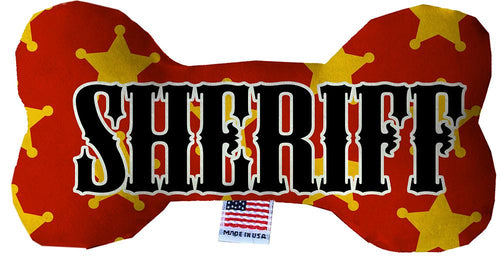 Sheriff Stuffing Free Inch Bone Dog Toy-Made in the USA-Bella's PetStor