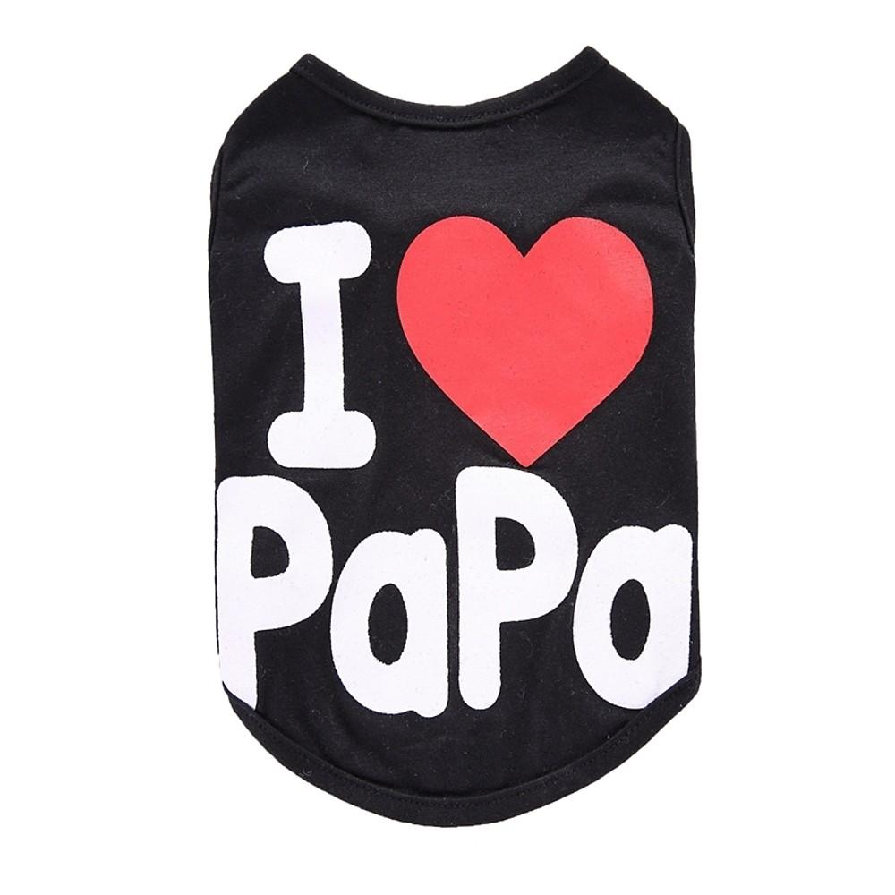 Shirt / T-Shirt Vest, Black, Gray, Cotton, Spring, Fall, Summer-Pet Clothes-Bella's PetStor