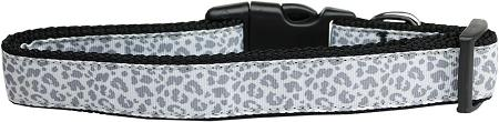 Silver Leopard Nylon Dog Collar-DOGS-Bella's PetStor