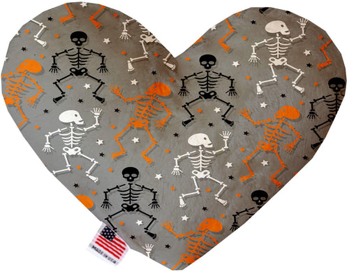 Skeletons Dancing Inch Canvas Heart Dog Toy-Made in the USA-Bella's PetStor