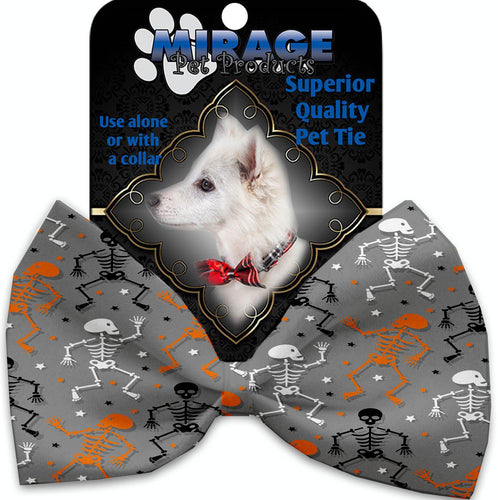 Skeletons Dancing Pet Bow Tie Collar Accessory With Velcro-Holidays-Bella's PetStor