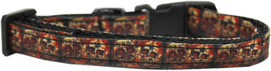 Skull Crossed Lovers Nylon Ribbon Cat Safety Collar-Dog Collars-Bella's PetStor