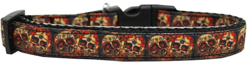 Skull Crossed Lovers Nylon Ribbon Dog Collar-Dog Collars-Bella's PetStor
