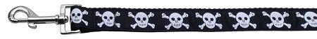 Skulls Nylon Dog Leash Inch Wide Long-Dog Collars-Bella's PetStor