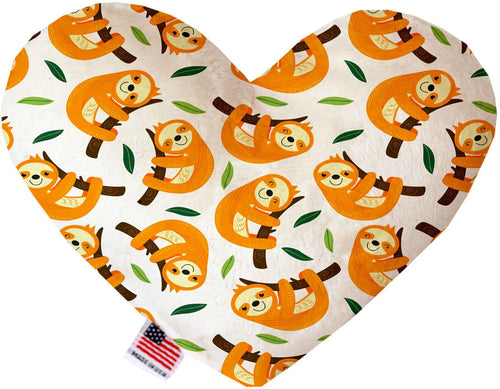 Sleepy Sloths Inch Canvas Heart Dog Toy-Made in the USA-Bella's PetStor