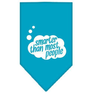 Smarter then most People Screen Print Bandana Turquoise Large-smarter then most people screen print bandana-Bella's PetStor