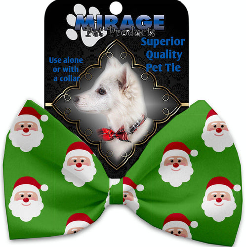 Smiling Santa Pet Bow Tie Collar Accessory With Velcro-Bow Ties-Bella's PetStor