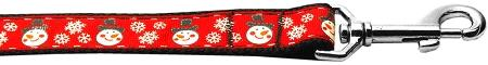 Snowmen Nylon Dog Leash Inch Wide Long-DOGS-Bella's PetStor