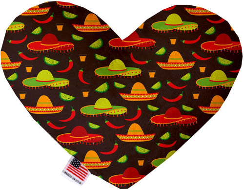 Sombreros Inch Canvas Heart Dog Toy-Made in the USA-Bella's PetStor