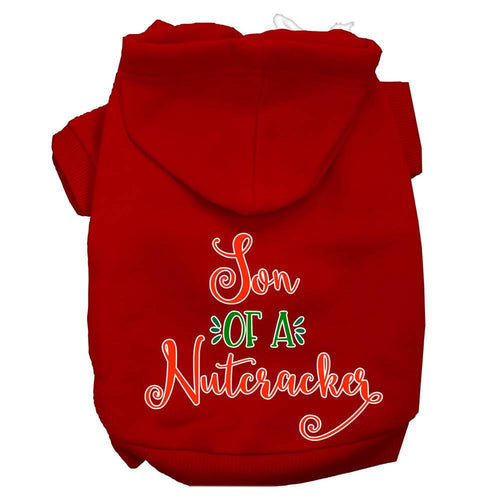 Son Of A Nutcracker Screen Print Dog Hoodie-Dog Clothing-Bella's PetStor