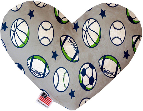 Sports And Stars Inch Canvas Heart Dog Toy-Made in the USA-Bella's PetStor