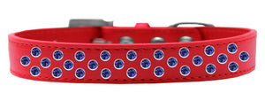 Sprinkles Dog Collar Blue Crystals Size-DOGS-Bella's PetStor