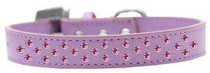 Sprinkles Dog Collar Bright Pink Crystals Size-DOGS-Bella's PetStor