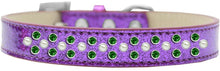 Load image into Gallery viewer, Sprinkles Ice Cream Dog Collar Pearl And Emerald Green Crystals Size-DOGS-Bella's PetStor
