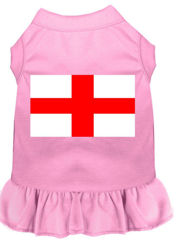 St. Georges Cross Screen Print Dress Light Pink-Dog Clothing-Bella's PetStor