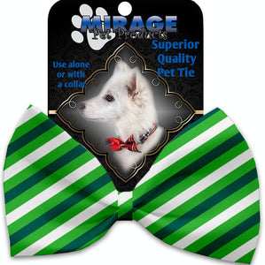 St Patrick's Stripes Pet Bow Tie Collar Accessory With Velcro-Bow Ties-Bella's PetStor