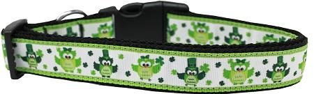 St. Patty's Day Party Owls Nylon Dog Collar-More-Bella's PetStor