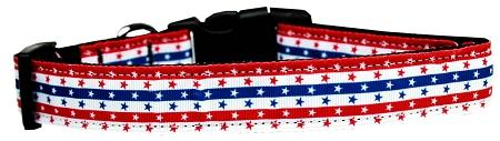 Stars In Stripes Nylon Dog Collar Medium Narrow-Dog Collars-Bella's PetStor