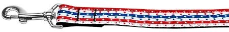 Stars In Stripes Nylon Dog Leash Inch Wide Long-Dog Collars-Bella's PetStor