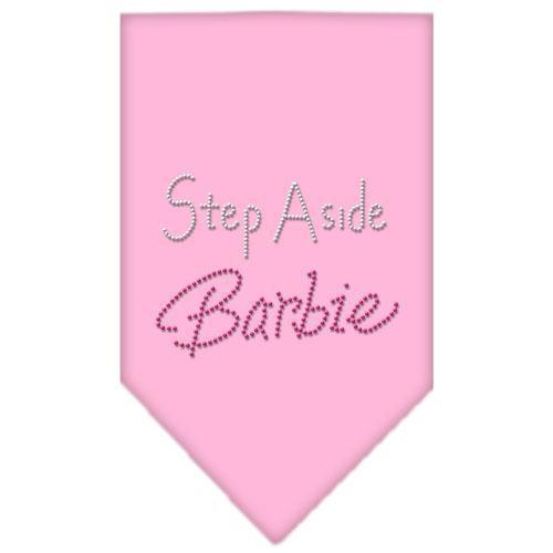 Step Aside Barbie Rhinestone Bandana Light Pink Large-Step aside barbie rhinestone bandana-Bella's PetStor