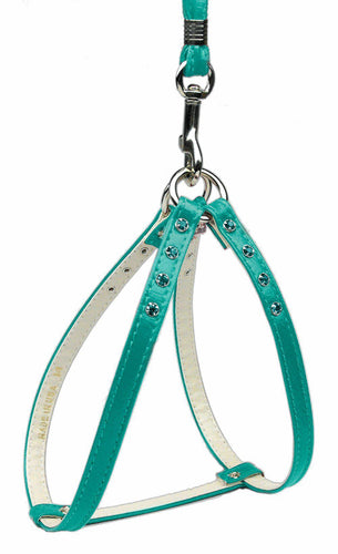 Step-in Harness Turquoise W/ Turq Stones-DOGS-Bella's PetStor