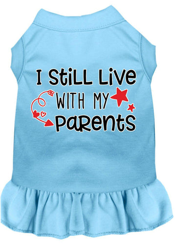 Still Live With My Parents Screen Print Dog Dress-Dog Clothing-Bella's PetStor